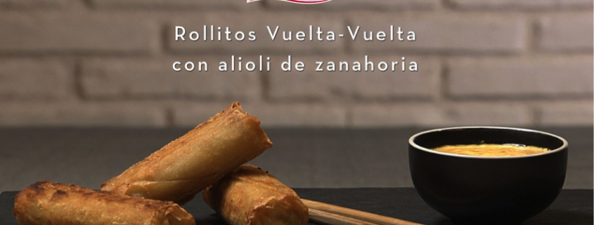 Rollitos Vuelta-Vuelta con Alioli de Zanahoria