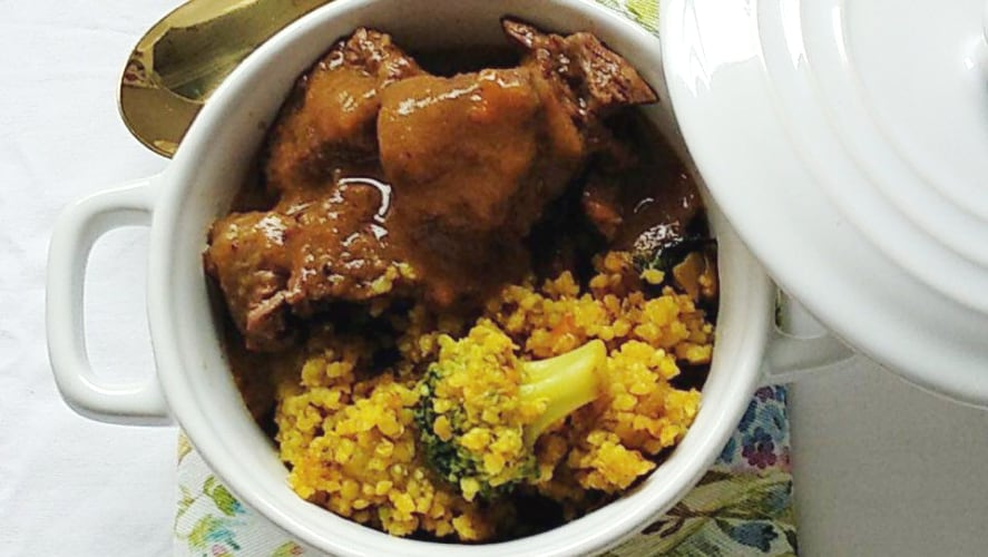 Receta Beef Bourguignon con Couscous con Quinoa y verduras